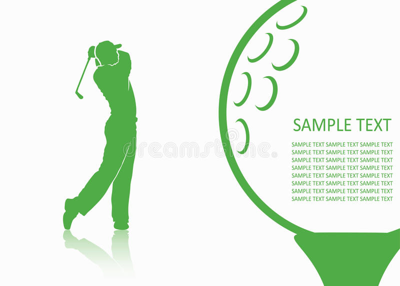 Golf background stock illustration