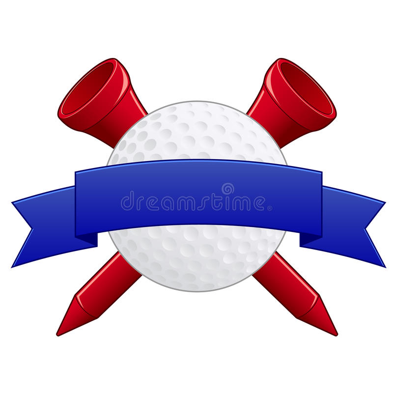 Golf Badge EPS. Illustration of a Golf badge of logo element with blank banner for customization