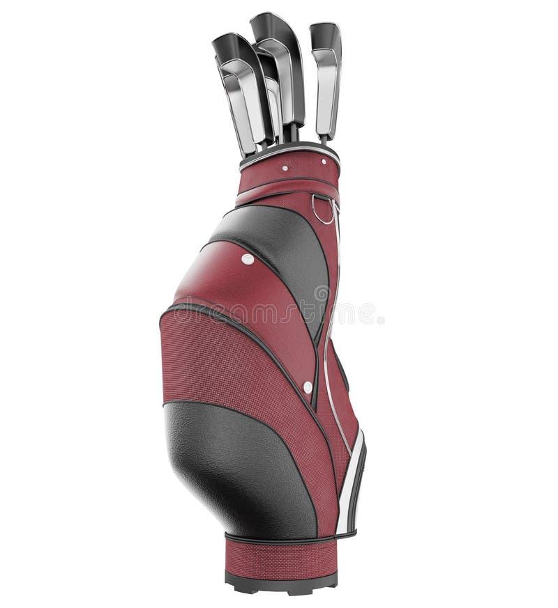 Golf bag stock image