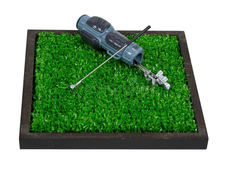 Download Golf Bag And Clubs On Grass Stock Photo - Image: 21600246