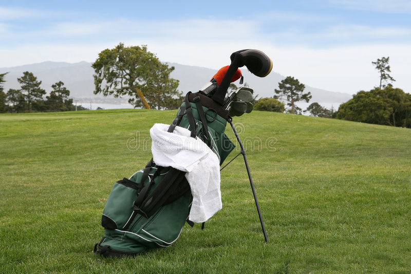 Download Golf Bag on Course stock image. Image of trees, equipment - 2429835