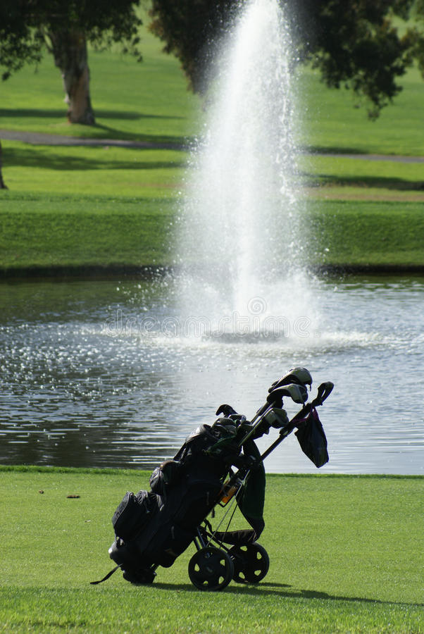 Download Golf Bag On The Golf Course Stock Image - Image: 14594955