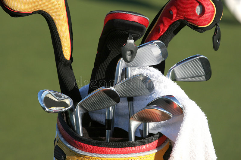 Download Golf Bag And The Set Of Clubs Stock Image - Image: 3014987