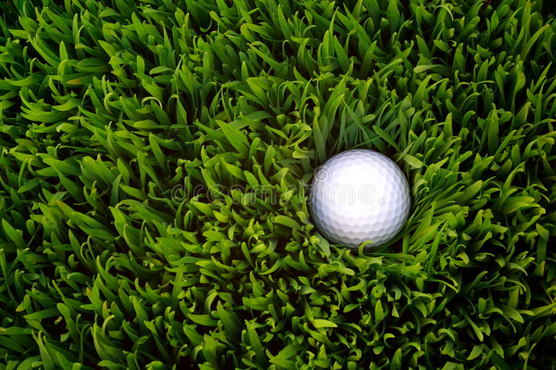 Download Golf Ball stock image. Image of green, white, ball, rough - 1115487