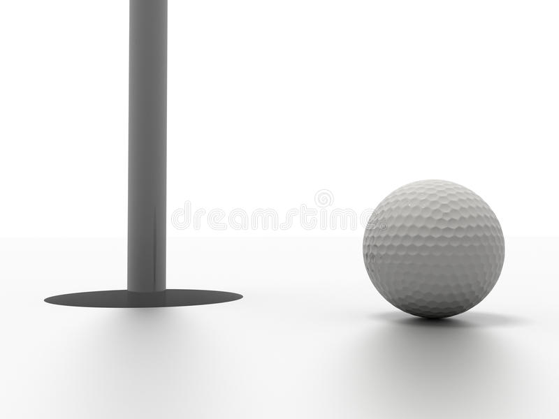 Download Golf ball stock illustration. Image of silver, leisure - 16184024