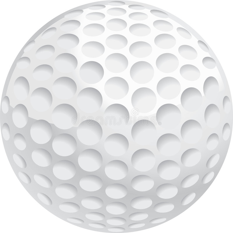 Golf Ball. A white golf ball with dimples
