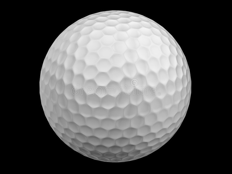 Golf ball. Isolated on black royalty free illustration