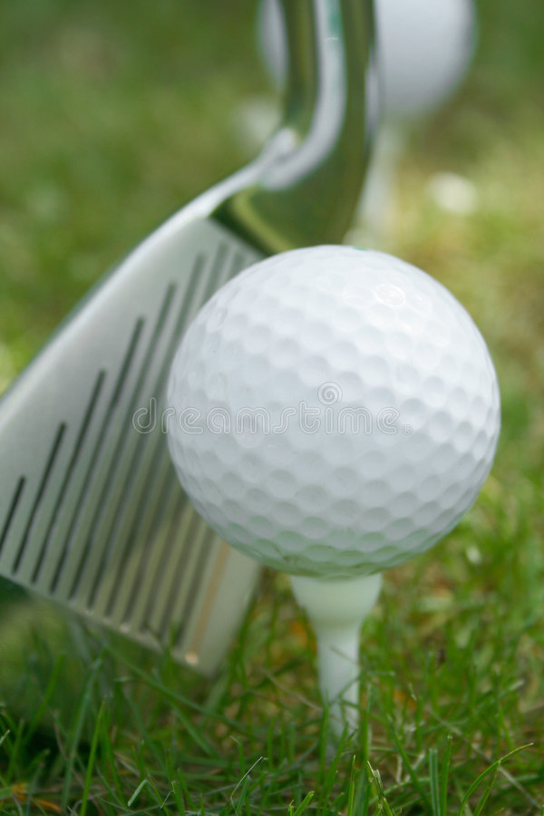 Golf ball. With copy space royalty free stock photo