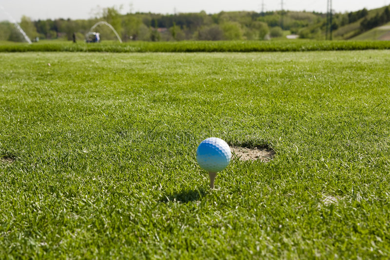 Download Golf ball stock photo. Image of course, close, green, white - 5112434