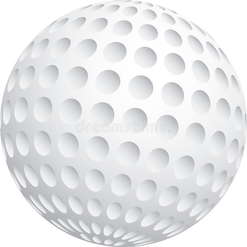 Download Golf Ball stock vector. Image of glow, reflection, concept - 5454247