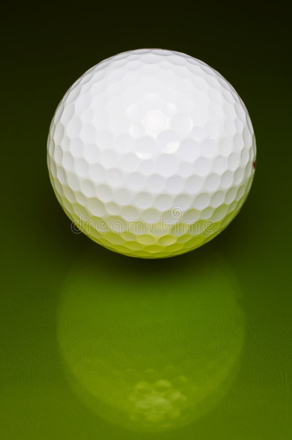 Golf ball. Close-up stock photos
