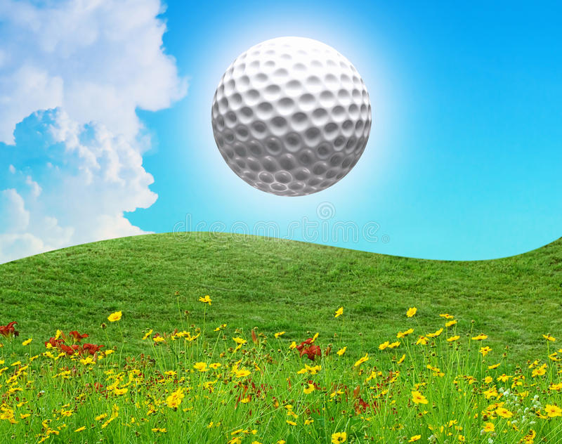 Download Golf ball in the air stock photo. Image of grow, horizon - 26405952