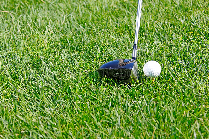Download Golf Ball Behind Driver At Driving Range, Plenty O Stock Image - Image: 19988517