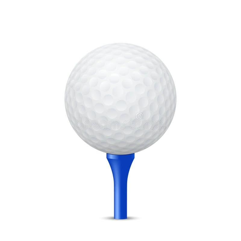Golf ball on a blue tee. Vector illustration. Golf ball on a blue tee, isolated. Vector EPS10 illustration vector illustration