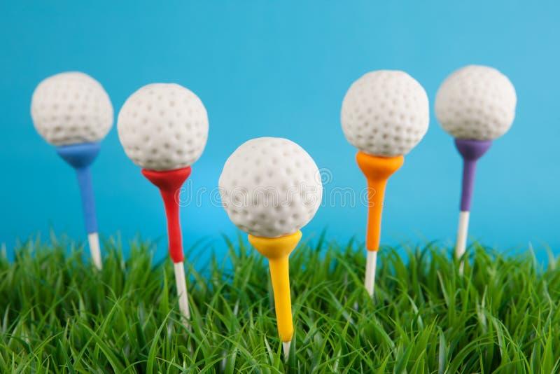 Golf ball cake pops stock photography