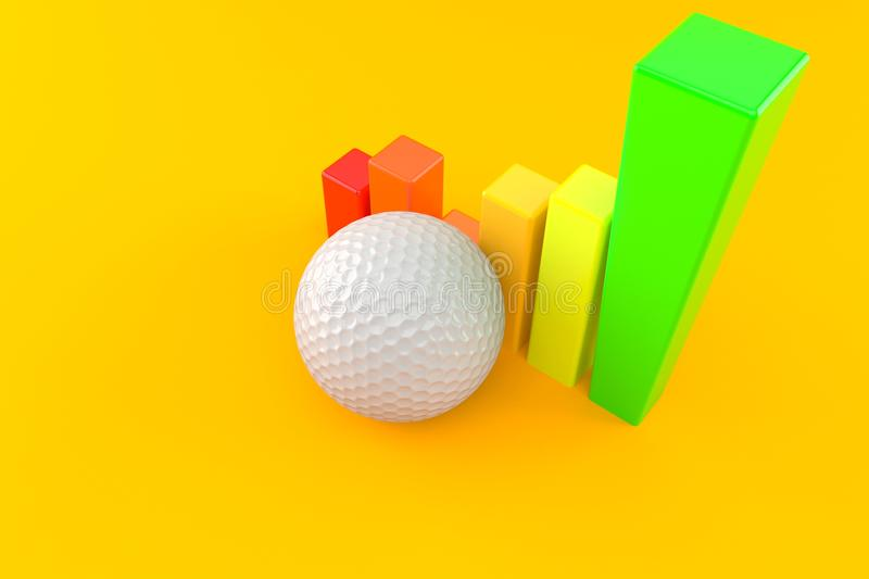 Golf ball with chart stock illustration