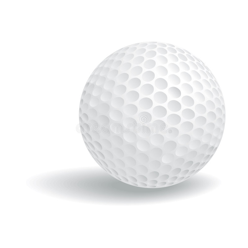 Golf Ball with clipping path. Illustration with clipping path royalty free illustration