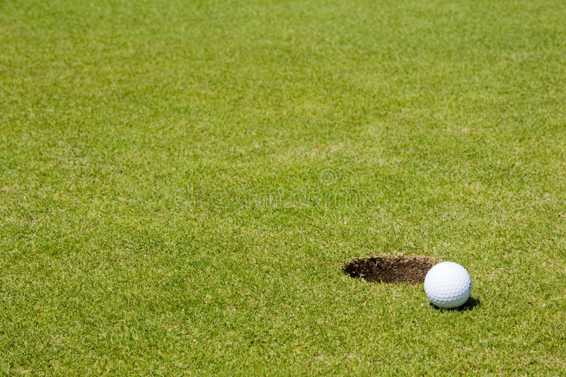 Download Golf ball close to a hole stock image. Image of hole, competition - 9024799