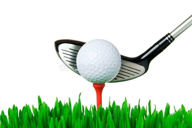 Golf ball and club stock image