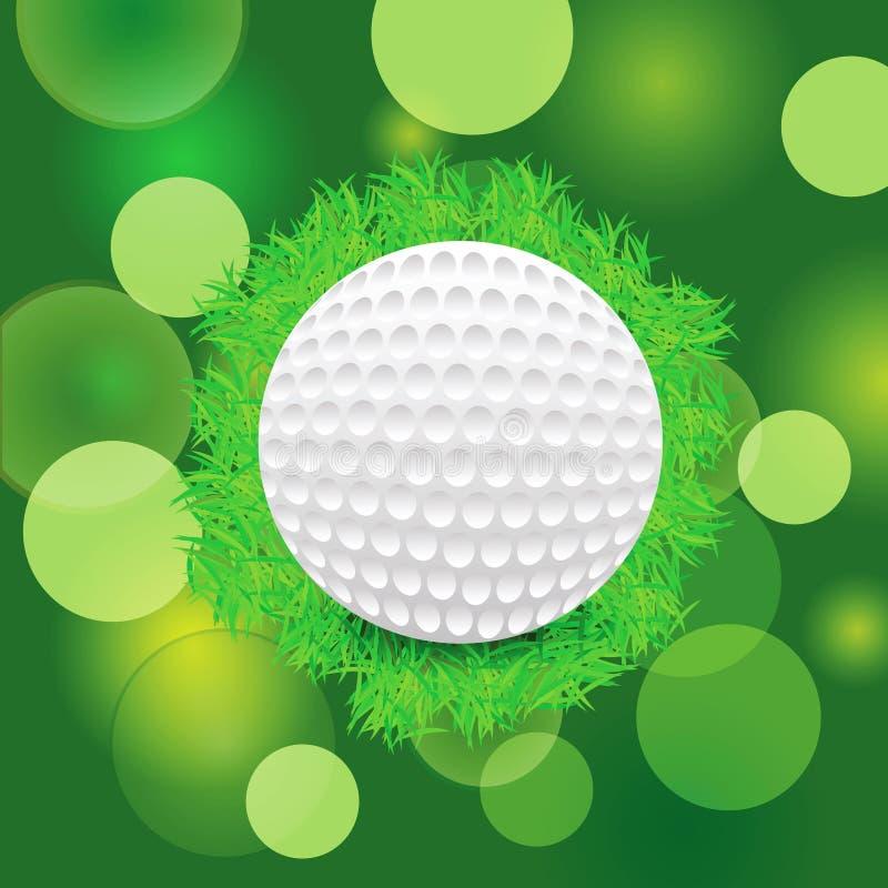 Golf ball vector illustration