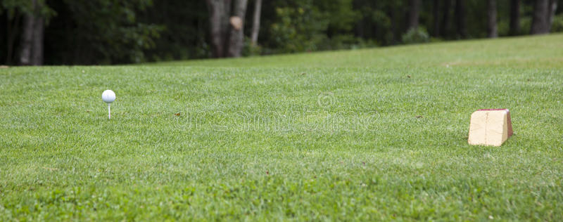 Download Golf ball on course stock image. Image of golfing, angled - 28391401