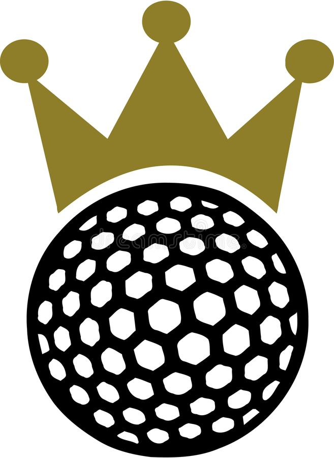 Golf Ball Crown King. Vector vector illustration