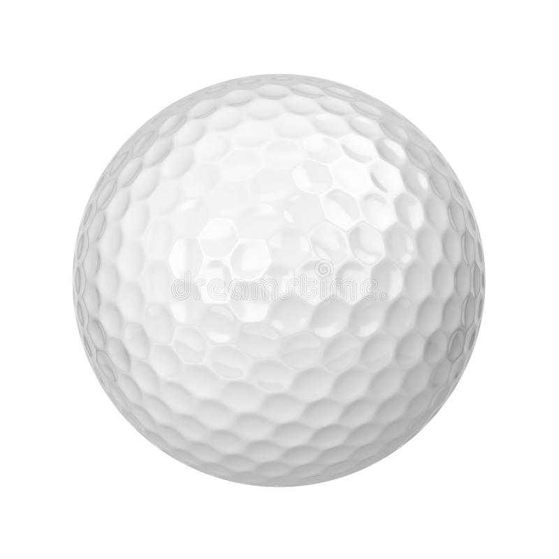 Golf ball. 3d illustration isolated on white background vector illustration