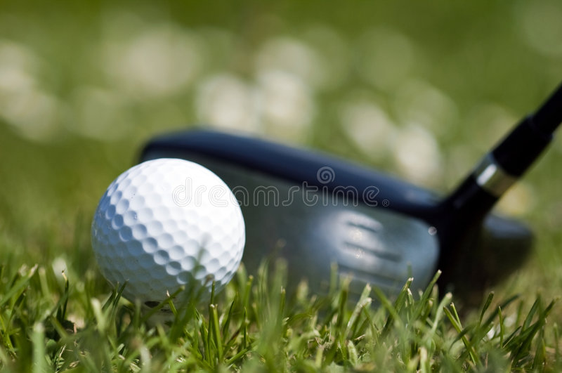 Download Golf Ball and Driver 1 stock photo. Image of lawn, fairway - 5157538