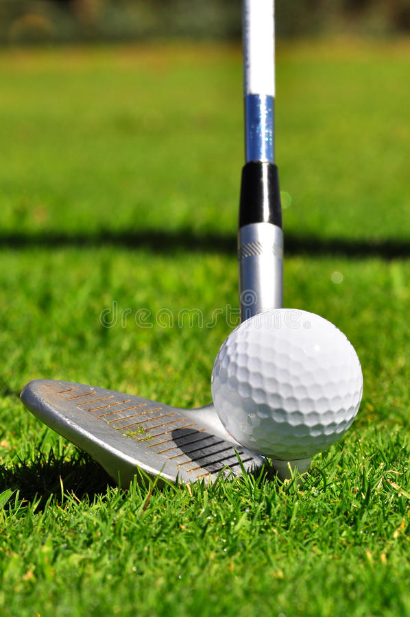 Golf ball and driver royalty free stock photos