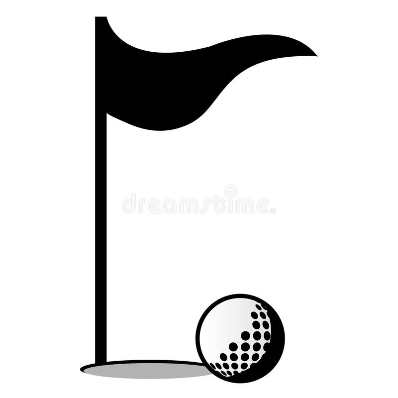 golf ball and flag graphic stock illustration illustration of rh dreamstime com golf ball flight path graphic golf ball graphic vector