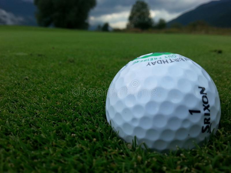 Golf Ball, Football, Grass, Daytime royalty free stock images