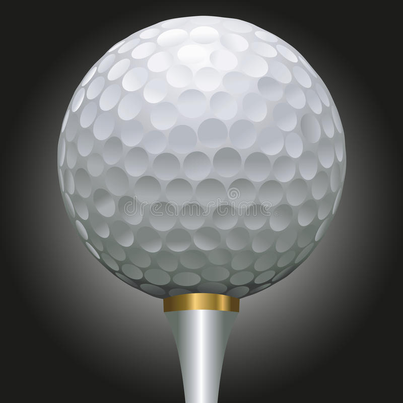 Download Golf ball on gold tee stock vector. Image of scalable - 27165312