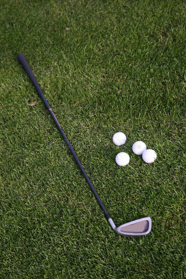 Download Golf-ball And Golf-club On The Grass Stock Photo - Image: 8350048