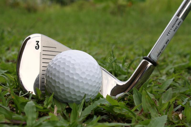 Download Golf Ball And Golf Iron Club Stock Image - Image: 14850771