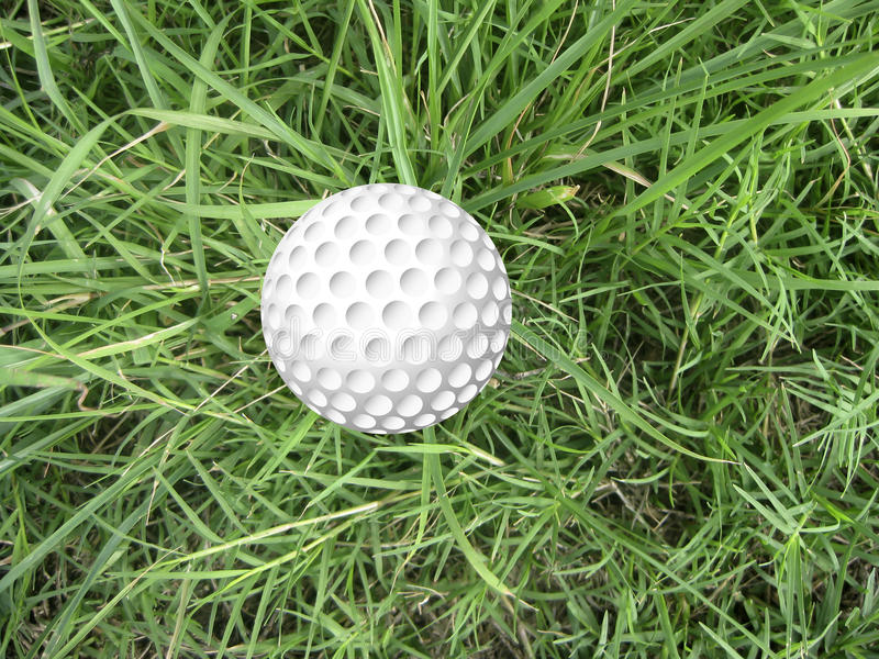 Download Golf ball on grass stock image. Image of sports, golfcourse - 23647031