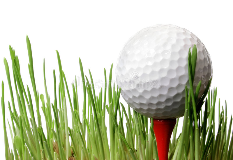 Golf Ball in Grass stock photography