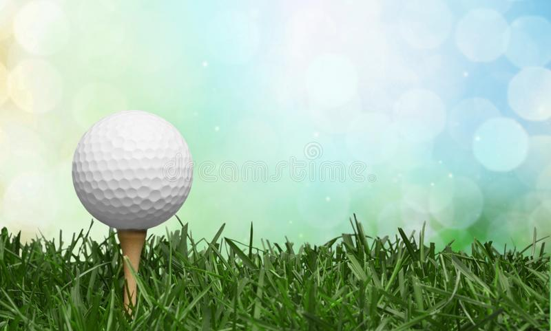 Golf Ball in grass background. Sport and royalty free stock photography