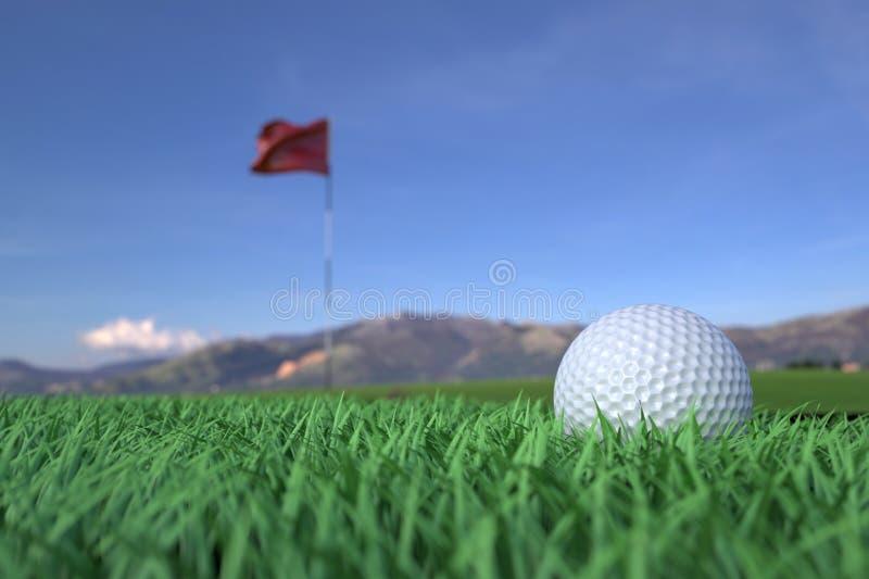 Golf Ball On Grass Field Stock Photos