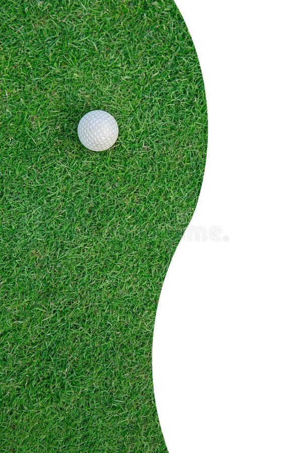 Golf Ball on the Grass for web background royalty free stock photos