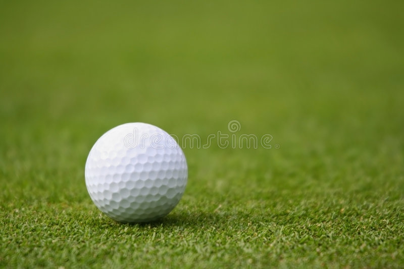 Golf Ball on Green stock image