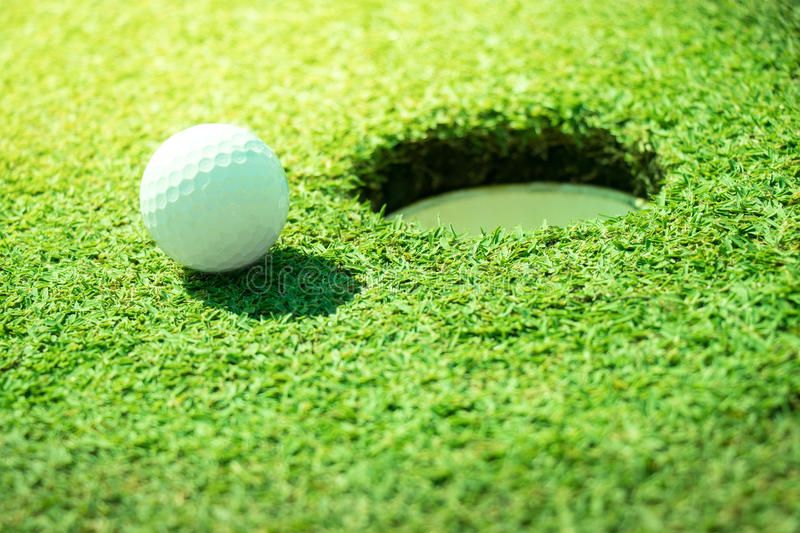 Golf. Ball on the green royalty free stock photos