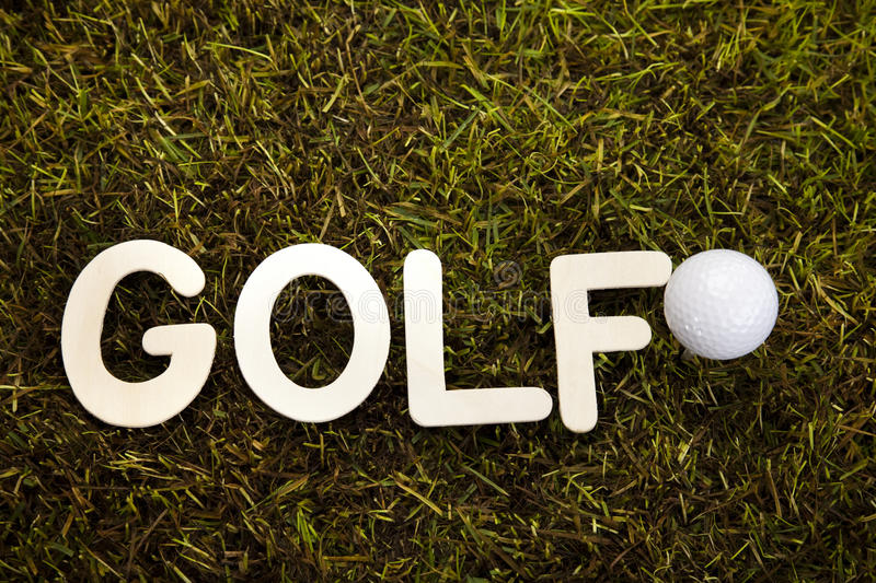 Download Golf ball on green meadow stock image. Image of drive - 26850153