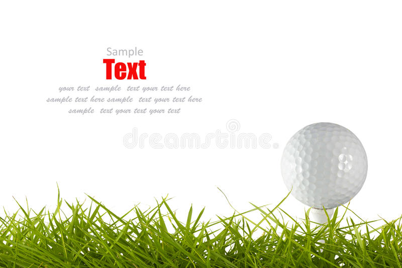 Download Golf ball on green tee stock image. Image of bright, club - 18738471