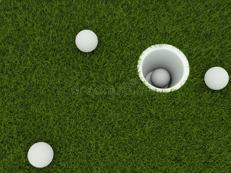 Download Golf ball in the hole stock illustration. Image of sport - 22799962