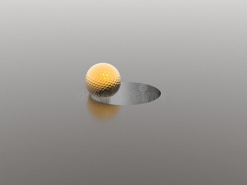 Golf ball and hole stock illustration