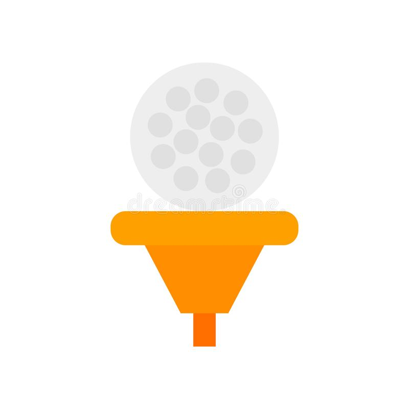 Golf ball icon vector isolated on white background, Golf ball si. Golf ball icon vector isolated on white background, Golf ball transparent sign stock illustration