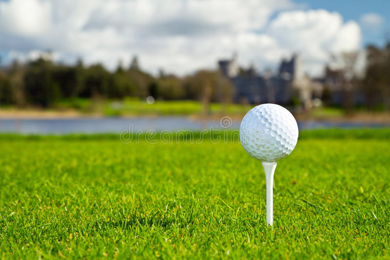 Download Golf ball on Irish course stock photo. Image of active - 24527818