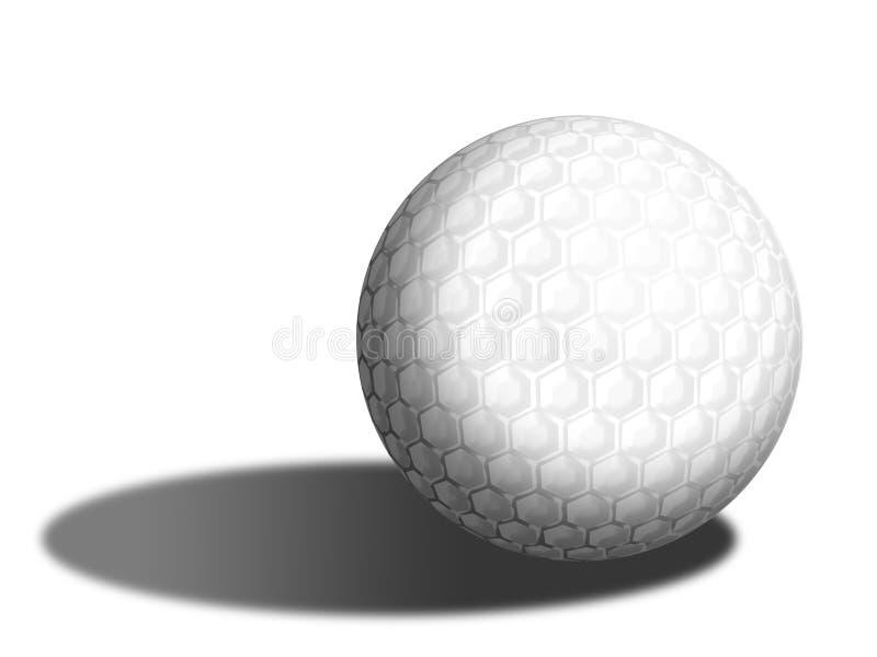 Golf ball isolated vector illustration