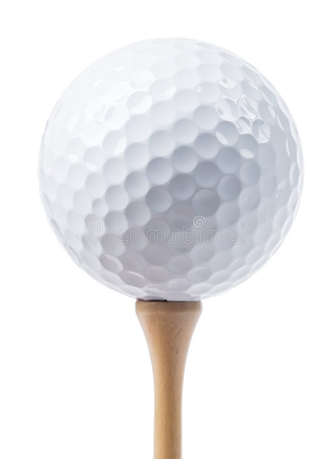 Golf ball isolated. On white royalty free stock photos