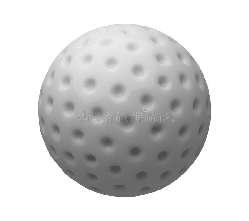 Golf ball isolated on white background. 3d illustration.  vector illustration